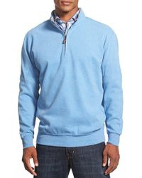 Peter Millar | Blue Knit Quarter Zip Pullover for Men | Lyst