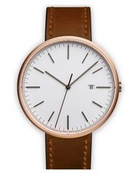 Uniform Wares | Brown Leather Strap Watch | Lyst