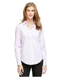 Brooks Brothers | Purple Non-iron Classic Fit Stripe Dress Shirt | Lyst
