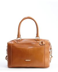 Rebecca Minkoff - Brown Tan And White And Navy Weaved Leather Convertible Tote Bag - Lyst