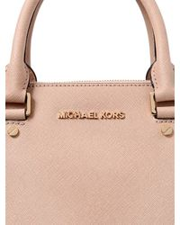 MICHAEL Michael Kors | Pink Medium Sutton Saffiano Leather Bag | Lyst