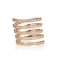 Roberto Marroni | Metallic Diamond Spiral Ring | Lyst