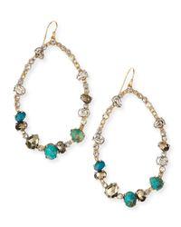 Alexis Bittar - Metallic Gilded Muse Dore Crystal Hoop Wire Earrings - Lyst