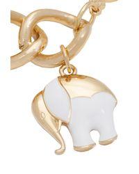 Trina Turk - White Elephant Charm Bracelet - Lyst