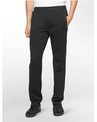 Calvin Klein | Black White Label Performance Fleece Sweatpants for Men | Lyst