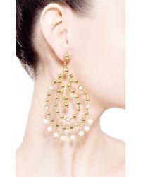 Paula Mendoza - Metallic Barcelona Earrings with Pearls - Lyst