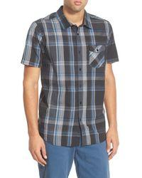 Rip Curl - Black 'mancos' Plaid Short Sleeve Sport Shirt for Men - Lyst