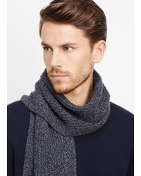 Vince - Blue Cashmere Marled Knit Scarf for Men - Lyst