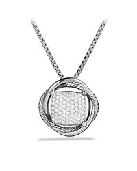 David Yurman | Metallic Infinity Medium Pendant Necklace With Diamonds | Lyst