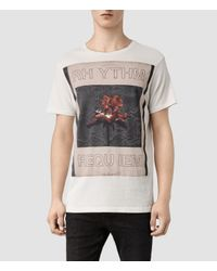 AllSaints - White Rhythm Crew T-Shirt for Men - Lyst