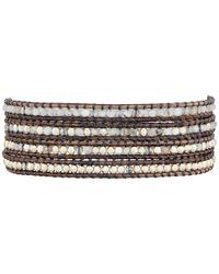 Chan Luu | Black 32' White Opal Mix Wrap Bracelet | Lyst