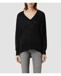 AllSaints - Black Balance Sweater - Lyst