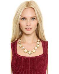 kate spade new york - Metallic Window Seat Bouquet Graduated Necklace - Cream Multi - Lyst