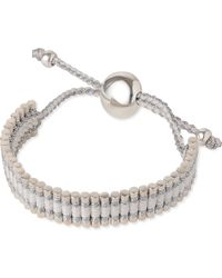 Links of London | Friendship Bracelet Pewter And White | Lyst