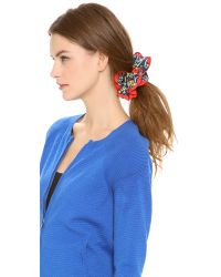 Marc By Marc Jacobs | Black Painted Flower Bunny Scrunchie - White Multi | Lyst