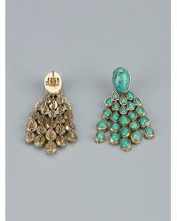 Aurelie Bidermann - Green 'Cherokee' Earrings - Lyst