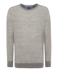 DIESEL | Gray S-erastos Regular Fit Textured Jumper for Men | Lyst