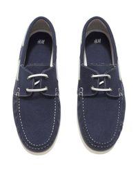 H&M - Blue Deck Shoes for Men - Lyst