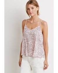 Forever 21 | Pink Floral Strappy Back Cami | Lyst