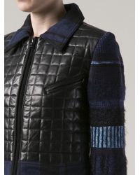 James Long - Black Quilted Leather Front Jacket - Lyst