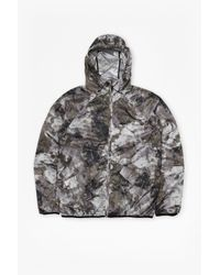 French Connection - Green Blossom Nylon Hooded Jacket for Men - Lyst