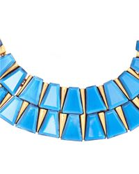 Oscar de la Renta | Blue Resin Baguette Necklace | Lyst