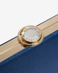 Ted Baker | Blue Hard Case Clutch Bag | Lyst