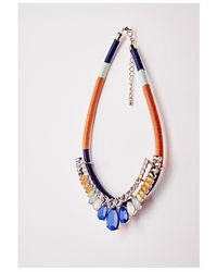 Missguided | Orange Rope Beaded Statement Necklace Multi | Lyst
