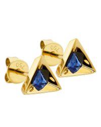 Ruifier - Blue 'stella' Sapphire Earrings - Lyst
