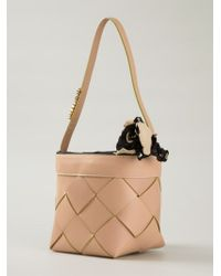 Moschino | Natural Woven Basket Style Tote | Lyst