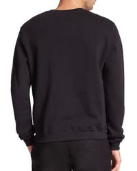 MSGM - Black Plaid Logo Sweatshirt for Men - Lyst