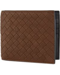 Bottega Veneta - Natural Intrecciato Woven Leather Billfold Wallet for Men - Lyst