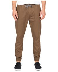 Volcom | Brown Men's Frickin Slim-fit Joggers for Men | Lyst