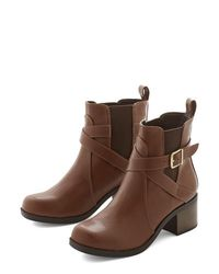 Fortune Dynamic - Brown Crisscrossing The City Boot - Lyst
