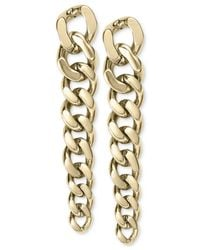 Michael Kors | Metallic Gold-Tone Frozen Graduated Chain Post Earrings | Lyst