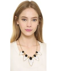 Adia Kibur - Metallic Aly Necklace - White/Black/Gold - Lyst