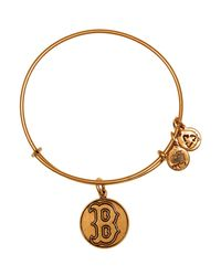 ALEX AND ANI | Metallic Boston Red Sox Cap Logo Expandable Wire Bangle | Lyst