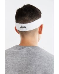 Stussy - White Stock Sweatband for Men - Lyst