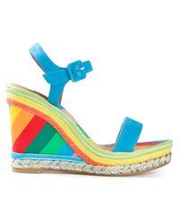 Valentino - Blue 1973 Wedge Sandals - Lyst