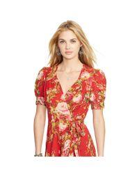 Denim & Supply Ralph Lauren | Multicolor Floral Wrap Dress | Lyst