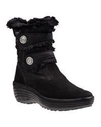 Pajar | Caroline Snow Boot Black Fabric | Lyst