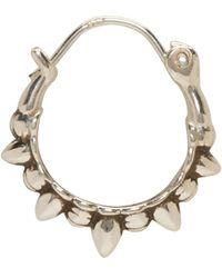 Pamela Love | Metallic Silver Tribal Spike Hoop Earrings | Lyst