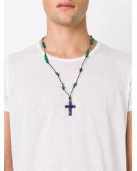DSquared² | Black Jade Crucifix Necklace for Men | Lyst