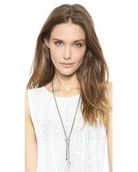 Vita Fede - Metallic Titan Caged Necklace Silverpearl - Lyst