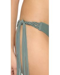Mikoh Swimwear | Gray Puerto Rico Tie Side Bottoms - Army | Lyst