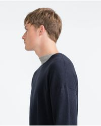 Zara | Blue Oversize Soft Melange Sweater for Men | Lyst