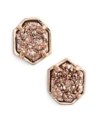 Kendra Scott - Metallic 'logan' Stud Earrings - Lyst