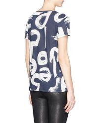 Proenza Schouler - Blue Scibble Letter Print T-Shirt - Lyst