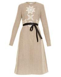 Altuzarra | Natural Islington Collarless Linen Coat | Lyst