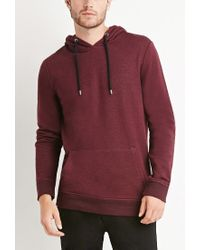 Forever 21 - Purple Marled Pullover Hoodie for Men - Lyst
